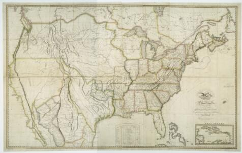Map of the United States with the contiguous British & Spanish possessions / compiled from the latest & best authorities by John Melish; engraved by J. Vallance & H.S. Tanner.