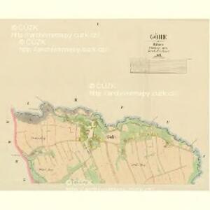 Göhe - c1747-1-001 - Kaiserpflichtexemplar der Landkarten des stabilen Katasters