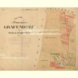 Grafendorf - m0872-1-001 - Kaiserpflichtexemplar der Landkarten des stabilen Katasters