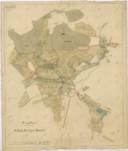 Situační plán dvorů Kout, Starý a Nový Dvůr