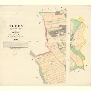 Nebes (Nedwezy) - m1944-1-001 - Kaiserpflichtexemplar der Landkarten des stabilen Katasters