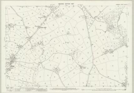 Cornwall XLVIII.12 (includes: St Allen; St Erme) - 25 Inch Map