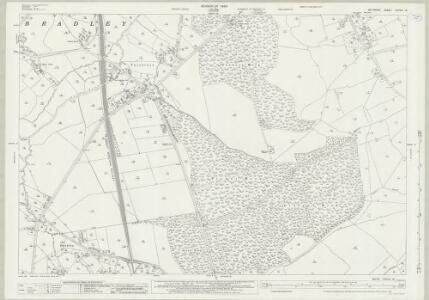 Wiltshire XXXVIII.16 (includes: Bratton; Heywood; North Bradley; West Ashton) - 25 Inch Map