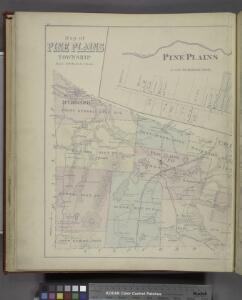 Map of Pine Plains Township. ; Pine Plains [Village]; Rock City [Village]
