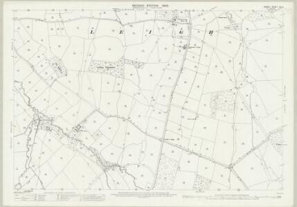 Dorset XXI.8 (includes: Batcombe; Chetnole; Hilfield; Leigh; Melbury Bubb) - 25 Inch Map