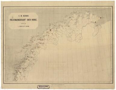 Statistikk kart 1-3: C. W. Bergs Folkemængdekart over Norge. Nordlige del