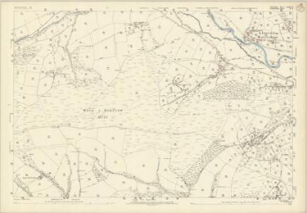 Shropshire LXXV.8 (includes: Bugeildy; Heyop; Llanfair Waterdine; Llangynllo) - 25 Inch Map