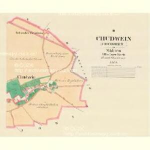 Chudwein (Chudobin) - m0987-1-002 - Kaiserpflichtexemplar der Landkarten des stabilen Katasters