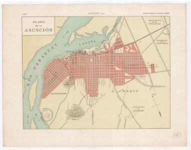 Plano de la Asunción al verso: fotografies dels edificis princiapls de la ciutat
