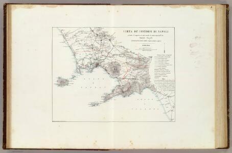 Carta de' contorni di Napoli.