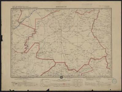 Carte des colonies de l'A.O.F. Bougouni