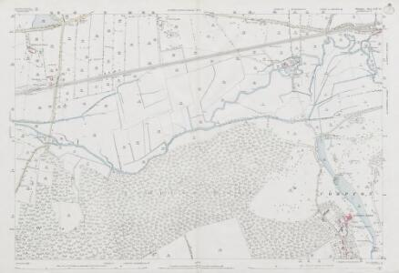 Wiltshire LXV.10 (includes: Barford St Martin; Compton Chamberlayne; Dinton; Fovant) - 25 Inch Map