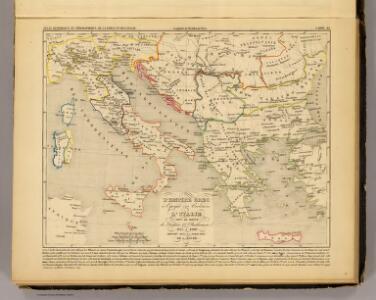 L'Empire Grec, l'Italie, 1125 a 1200.