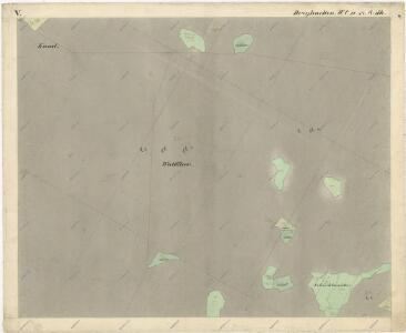 Katastrální mapa obce Tři Sekery WC-XV-17 dh