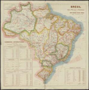 Brésil, carte Politique et Economique