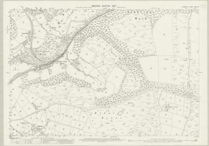 Cornwall XXXIV.12 (includes: Broadoak; Cardinham; St Winnow) - 25 Inch Map