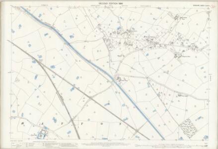 Cheshire XLVII.6 (includes: Foulk Stapleford; Hatton; Huxley; Waverton) - 25 Inch Map