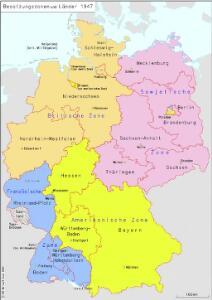 Besatzungszonen und Länder 1947