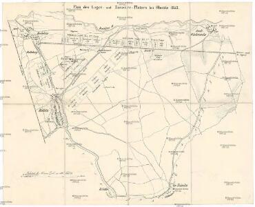Plan des Lager- und Exercier- Platzes bei Olmütz 1853