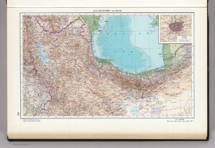 145.  Iran, North-west and North.  Tehran.  The World Atlas.