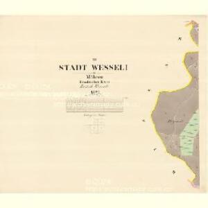 Wesseli - m3360-1-003 - Kaiserpflichtexemplar der Landkarten des stabilen Katasters