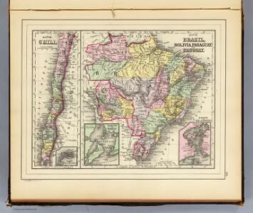 Brazil, Bolivia, Paraguay, Uruguay.