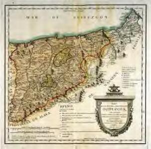 Mapa del m. n. y m. l. provincia de Guipuzcoa