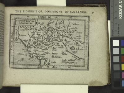 The Signorie or Dominions of Florence.