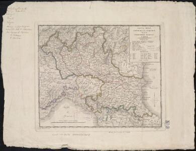 Carta della Repubblica Italiana divisa in dipartimenti, ripartiti in distretti
