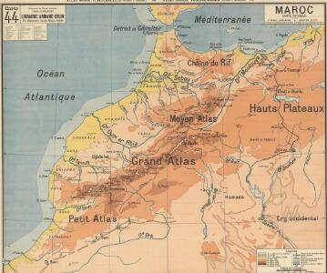 Maroc carte physique
