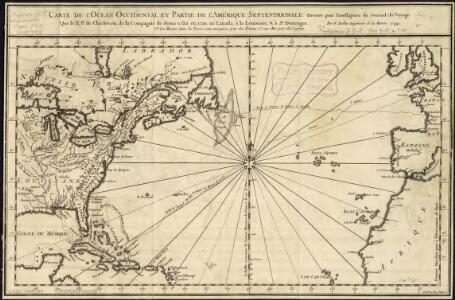 Carte de l'ocean occidental et partie de l'Amerique septentrionale