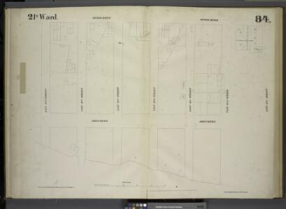 [Plate 84: Map bounded by Second Avenue, East 43rd Street, First Avenue, East 37th Street.]