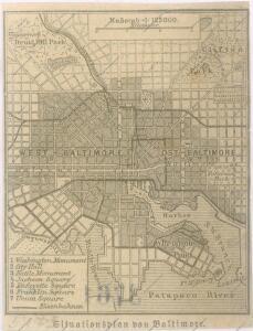 Situationsplan von Baltimore