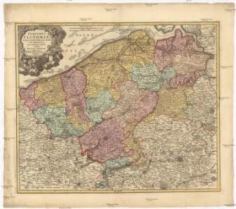 Comitatus Flandriae in omnes ejusdem subjacentes ditio[n]es cum adjacentibus acuratißime divisus