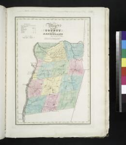 Map of the County of Rensselaer / by David H. Burr ; engd. by Rawdon, Clark & Co., Albany, & Rawdon, Wright & Co., New York.