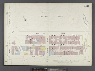 Manhattan, V. 6, Double Page Plate No. 111 1/2 [Map bounded by Central Park, 6th Ave., W. 57th St., 8th Ave., Central Park West]