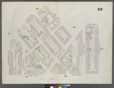 Plate 59: Map bounded by 12th Street, Sixth Avenue, West Washington Place, 4th Street, Perry Street, Greenwich Avenue, Seventh Avenue, 12th Street