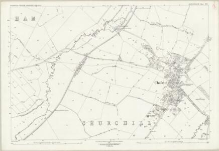 Oxfordshire XX.1 (includes: Churchill; Kingham; Sarsden) - 25 Inch Map