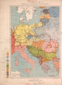 Ethnographical map of central & south eastern Europe. 1916.