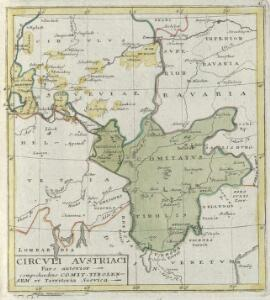 Circvli Avstriaci Pars alterior comprehendens Comit. Tirolensem et Territoria Suevica