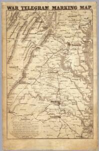 War Telegram Marking Map.