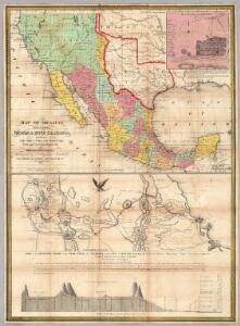 Map Of Mexico, Including Yucatan & Upper California.