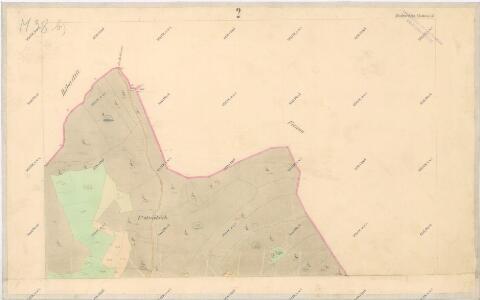 Katastrální mapa obce Zdebořice WC-VII-26 df