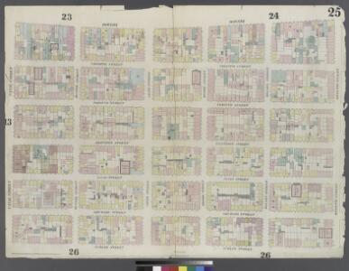 Plate 25: Map bounded by Rivington Street, Ludlow Street, Canal Street, Bowery