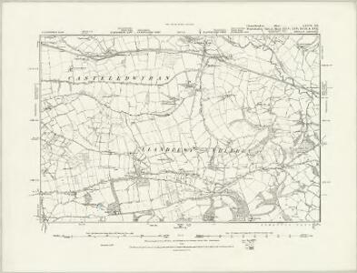 Carmarthenshire XXXVI.SW - OS Six-Inch Map
