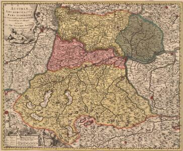 Austriae Archiducatus Pars Superior in omnes ejusdem Quadrantes Ditiones accuratissime ét distincté delineata