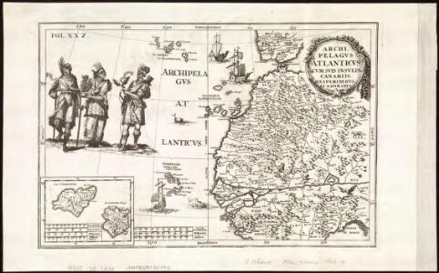 Archipelagus atlanticus cum suis insulis Canariis, Hesperidibus et Azoribus