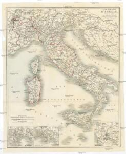 Carte routiere d'Italie
