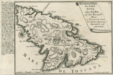 Accurater Plan der Insul Elva oder Elba :
