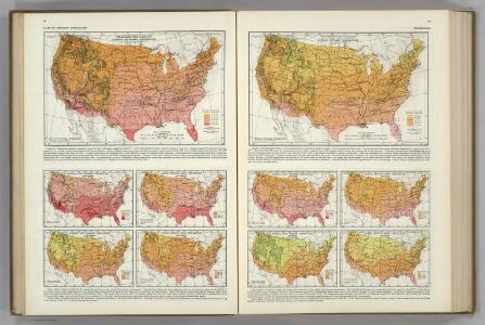 Monthly Temperature Maps:  September.  October.  Atlas of American Agriculture.